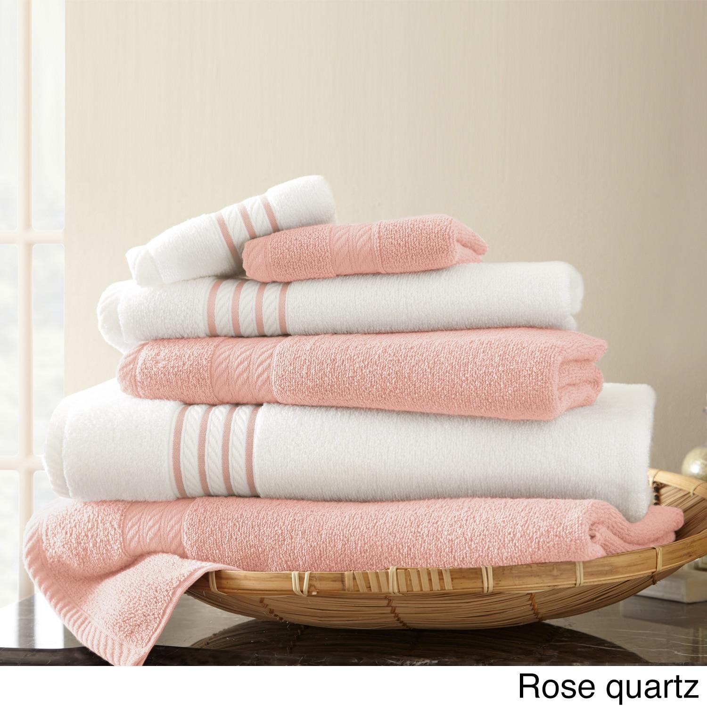 Amrapur Overseas Inc Quick Dry Stripe 6-piece Towel Set