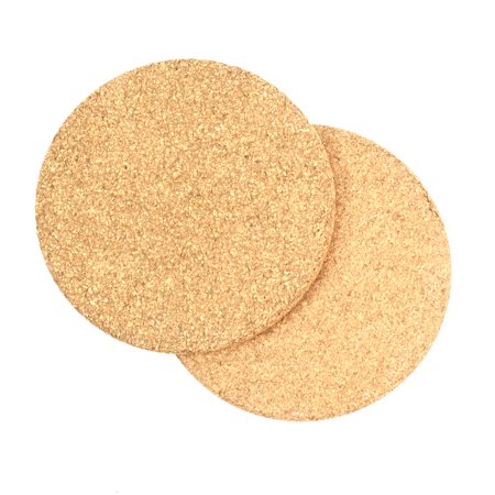 2 Pack Heat Resistant Hot Oven Pan Circle Cork Pads Non-Slip Plant Pot Planter