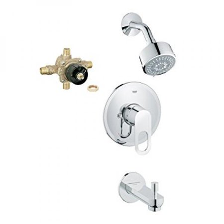 Grohe K26017-35015R-000 Bauloop Shower Tub Combination with Rough-In ()