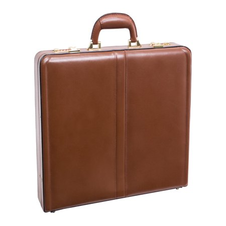 Reagan Leather Attache Case - Brown