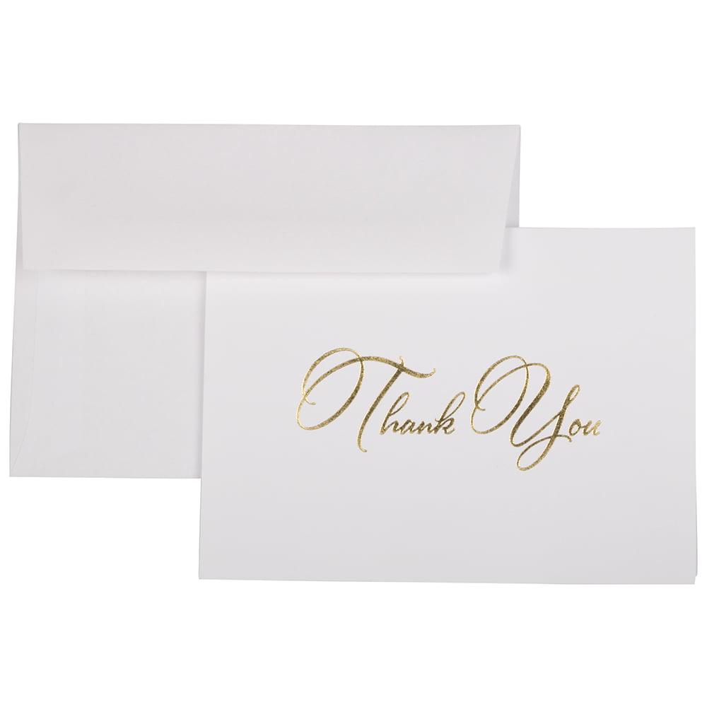 jam paper blank thank you cards set  elegant thank you