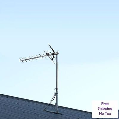 International Group 100Mile Hdtv 1080P Outdoor Amplified Hd Tv Antenna Digital Uhf Vhf Fm Radio