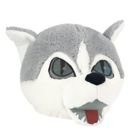 Maskimals Oversized Plush Halloween Mask - Wolf - Halloween Mask Pics