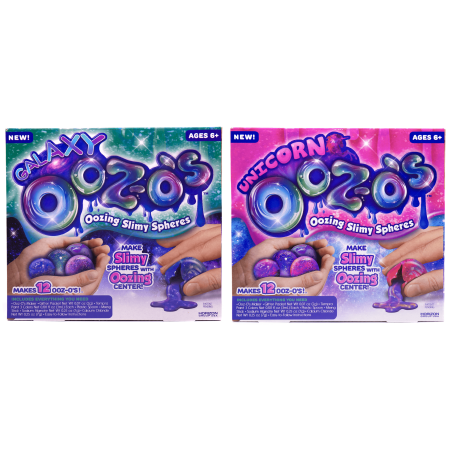 Galaxy and Unicorn OoZ-Os 2 Pack Bundle: Make Your Own Oozing Slime Spheres by Horizon Group USA - Make Your Own Cat