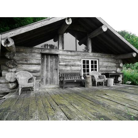LAMINATED POSTER Vacation Wood Wooden Beams Hut Log Cabin Home Poster Print 24 x (Best Log Cabin Homes)