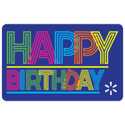 Neon Birthday Walmart eGift Card