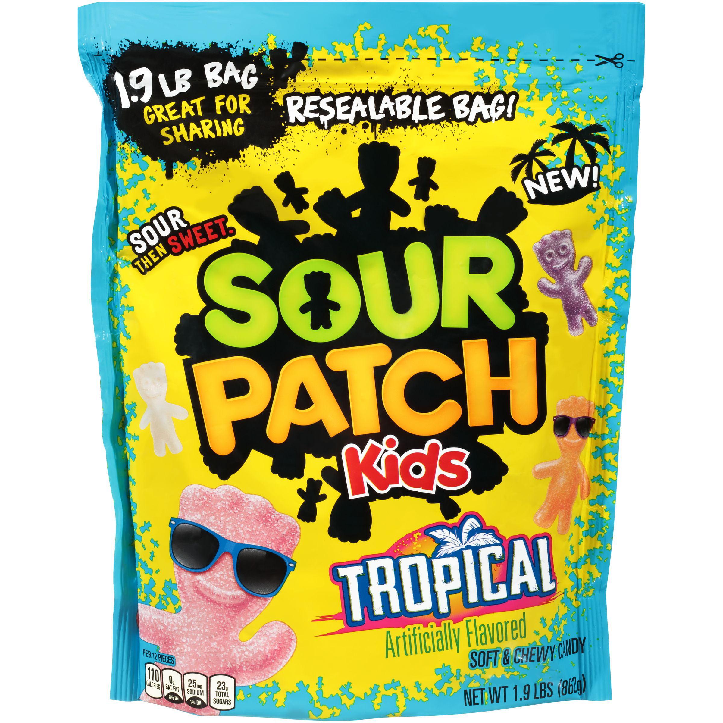 Sour Patch Kids Tropical Soft Chewy Candies 1 9 Lb Walmart Com Walmart Com