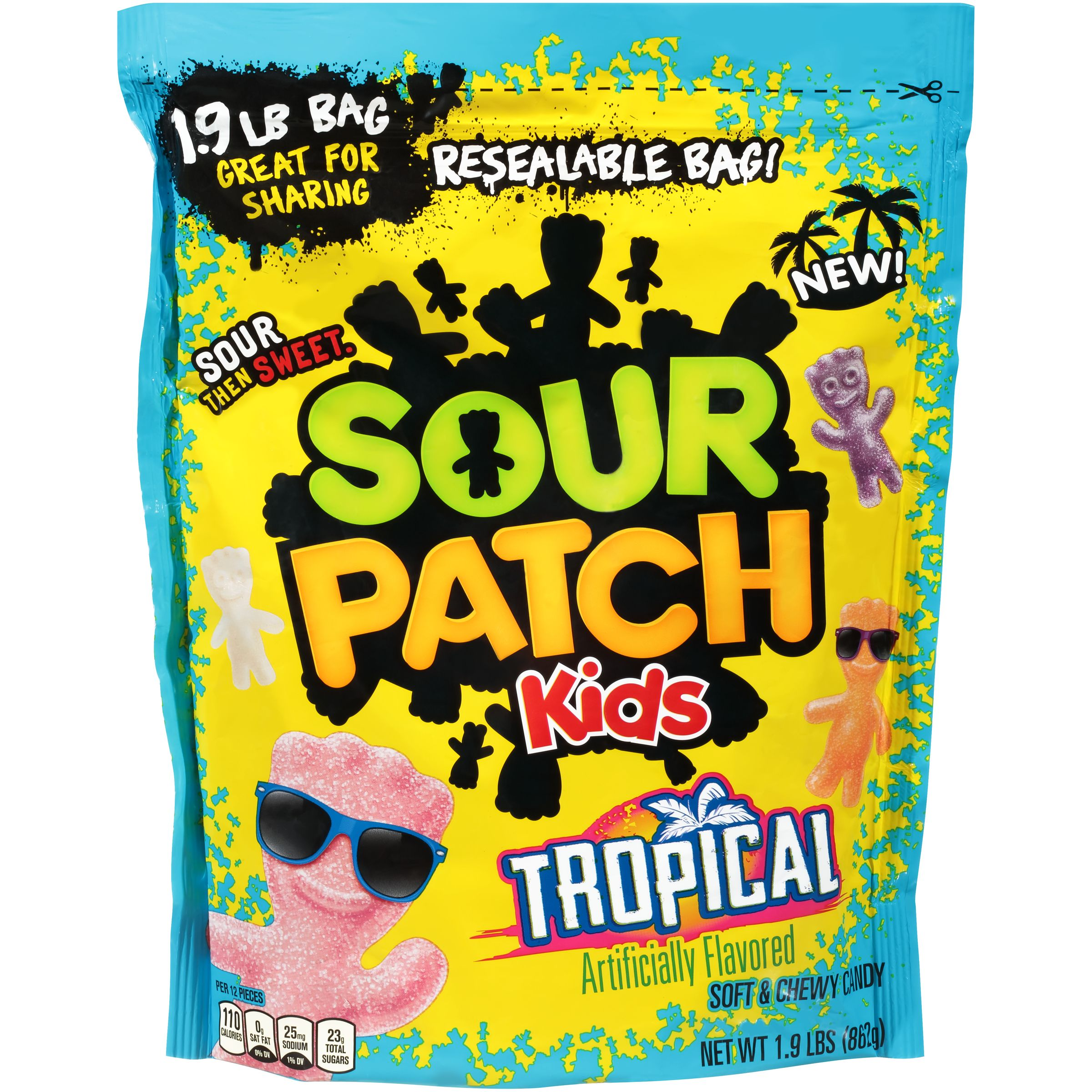 Sour Patch Kids Tropical Soft & Chewy Candies, 1.9 Lb.