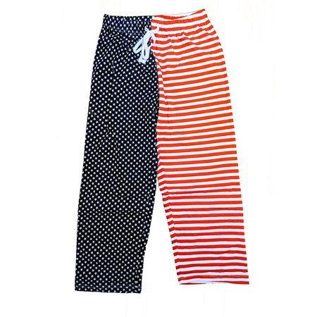 NYC FACTORY USA Flag Lounge Pants Pajama Bottoms Pride America Patriot Mens Ladies (Large) - Xvi Lounge Nyc Halloween