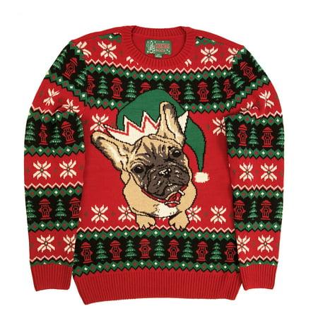 Ugly Christmas Sweater Plus Size Women's Pug Elf Hat Holiday Sweatshirt](Plus Size Christmas Sweater)