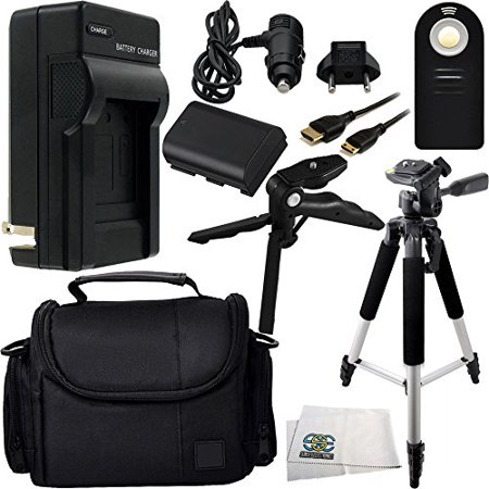 Travel Ac Dc Charger - Essential Accessory Kit for Canon EOS 5D Mark III, 60D, 70D, 6D, & 7D Mark II. Includes Replacement LP-E6 Battery + AC/DC Rapid Home & Travel Charger + Full Size Tripod + Pistol Grip/Table Top