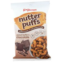Popchips, Puffs Peanut Butter Chocolate, 4 Oz, Pack Of 12