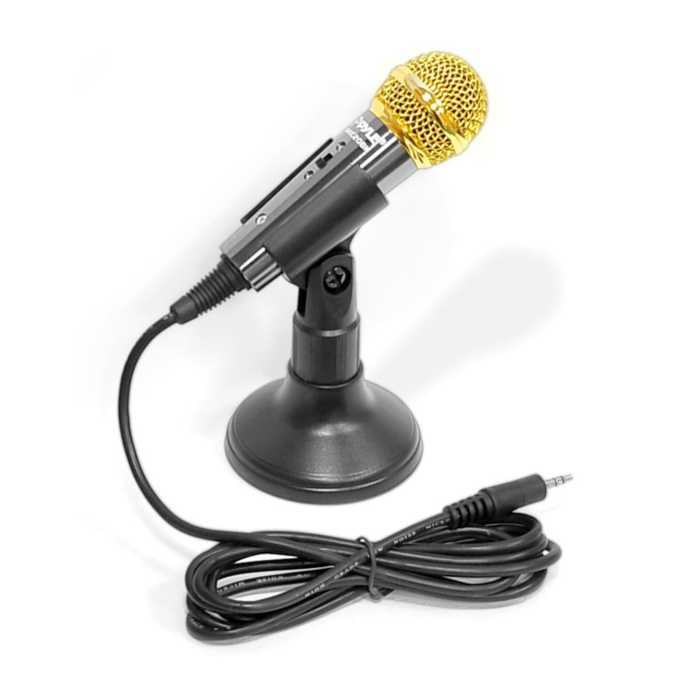 Pyle PMIKC20BK - Wired Vocal Microphone, Handheld Condenser Mic, 3.5mm Connector (Black)