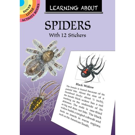 Dover Little Activity Books: Learning about Spiders: With 12 Stickers (Paperback) Learning About Earths