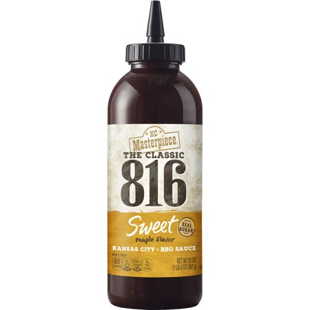(2 Pack) KC Masterpiece 816 Sweet Maple BBQ Sauce, 20 (Golden King Bbq)