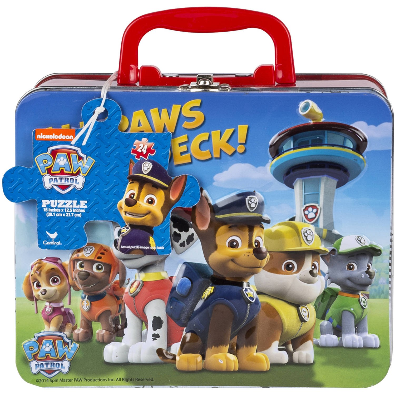Paw Patrol 24Piece Jigsaw Puzzle in Lunch Box with Handle