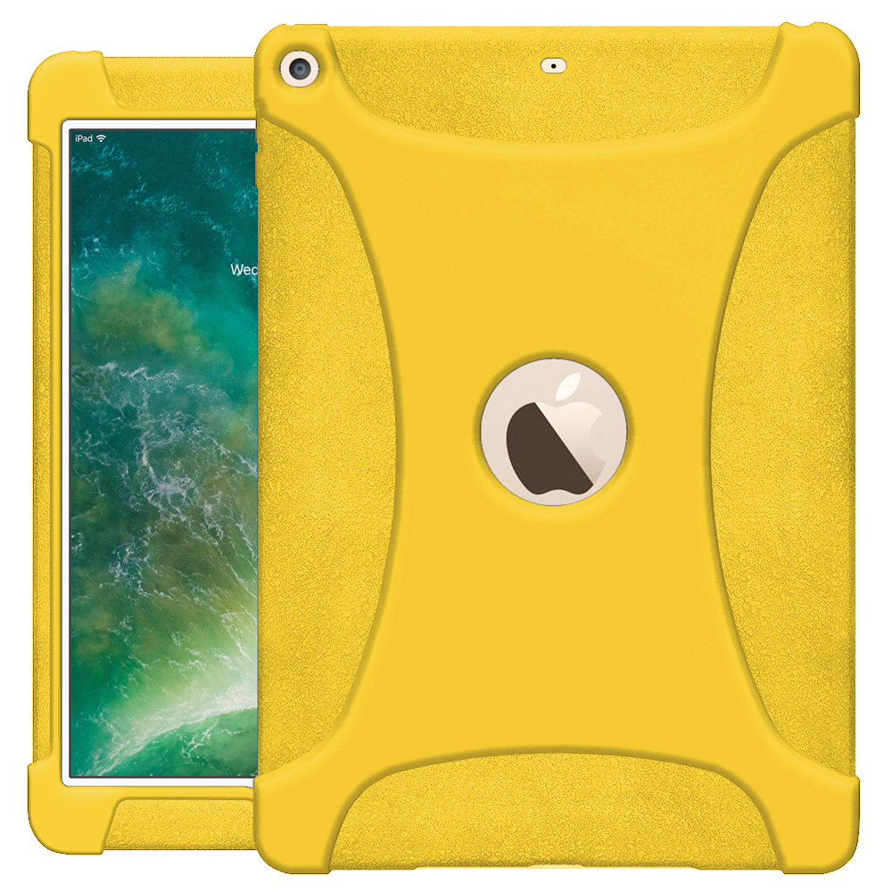 Apple iPad 9.7 Case, Rugged Silicone Skin Jelly Slim Protective Heavy Duty Shockproof Case for Apple iPad 9.7 - Yellow