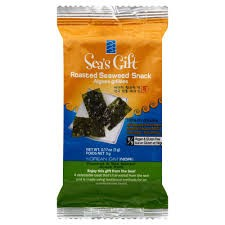 (4 Pack) Sea's Gift Korean Seaweed Snack (Kim Nori), Roasted & Sea Salted, 0.17 Ounce Bags (12 Count)
