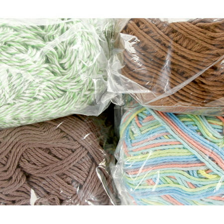 Spinrite Cotton Yarn Mill Ends: Random Colors and Styles, 1 (Yarn 1 Lb Cone)