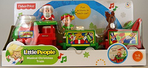 Fisher-Price Little People Musical Christmas Train - Walmart.com