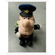 frosty the snowman traffic cop bean bag plush - 8 inches