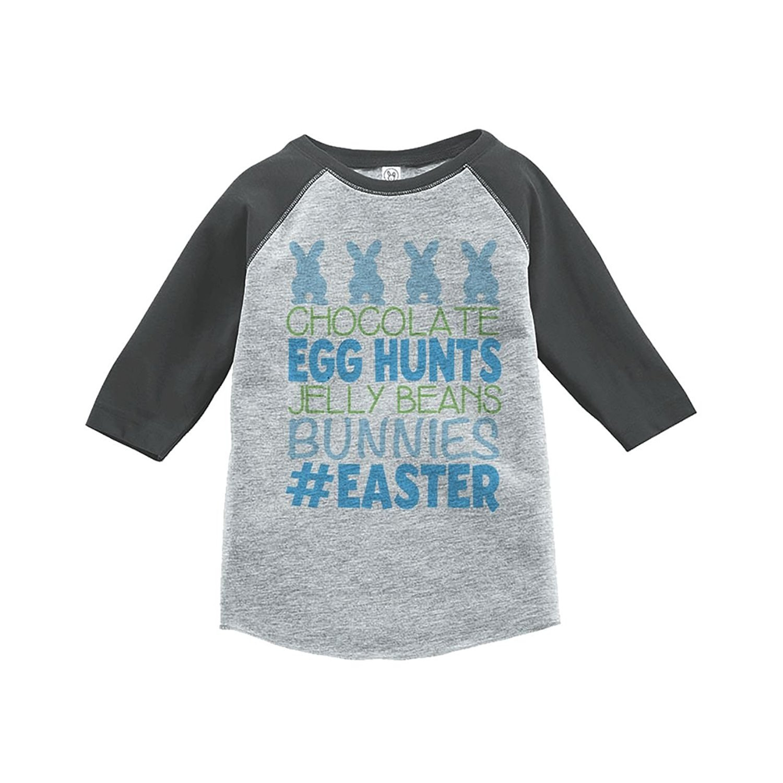 Custom Party Shop Baby Boy's #Easter Happy Easter Grey Raglan - XL Youth (18-20) T-shirt