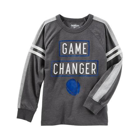 OshKosh B'gosh Little Boys' Varsity Raglan Football Tee, 5 Kids](Kids Football Suits)