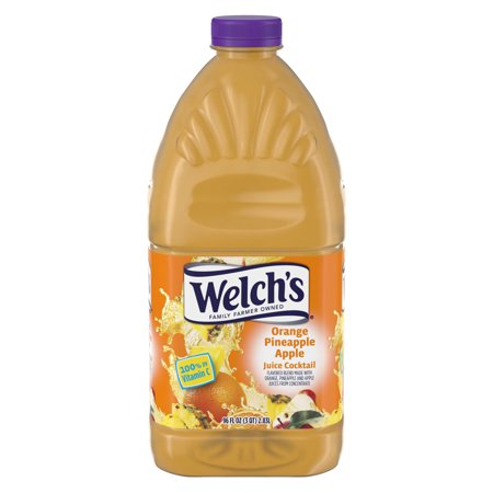 - (2 Pack) Welch's Juice Cocktail, Orange Pineapple Apple, 96 Fl Oz, 1 Count