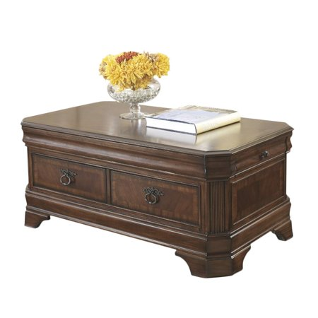 Ashley Hamlyn Lift Top Coffee Table In Medium Brown Walmartcom