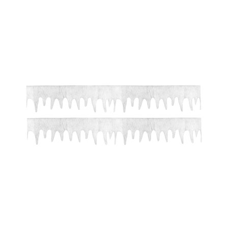 Felt Icing Fringe Glitter Faux Snow Panels Fireplace Mantel Holiday Fancy Decor