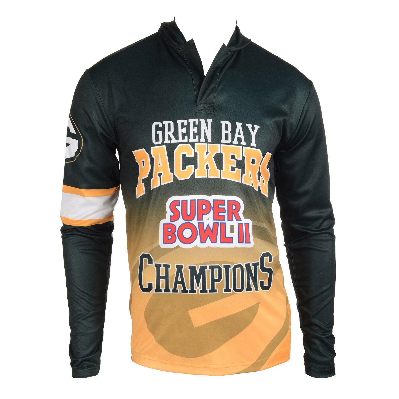 Football Super Bowl Champions Commemerative Poly Hoody Tee - Pick Team
