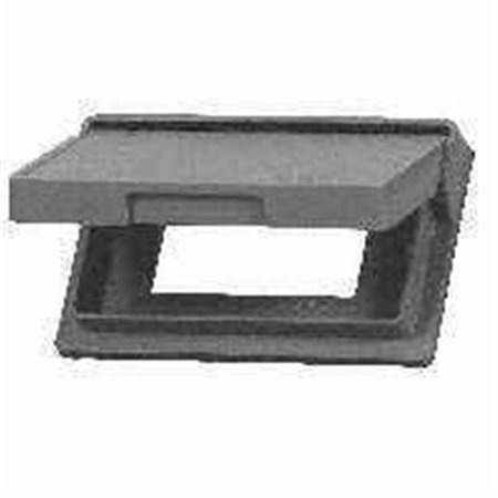 Eaton Wiring Devices S3966 Cover, 7 in L, 4-1/2 in W, Rectangular, Thermoplastic, For Decorator or GFCI Decorator Gfci Electrical Outlet