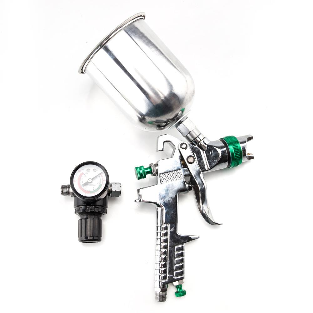 Ktaxon 2.5mm HVLP Gravity Feed Spary Gun Kit, with Regulator Auto Paint Primer Metal Flake