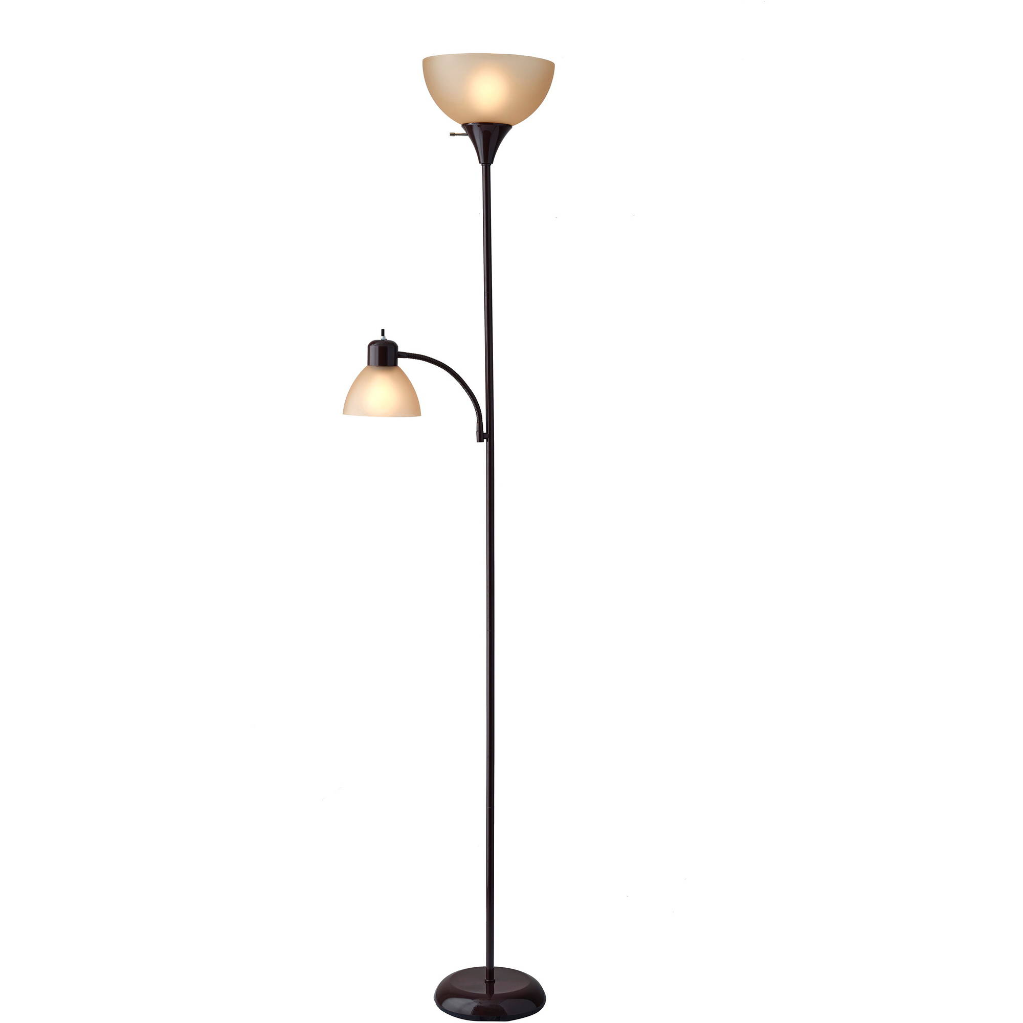 Mainstays shelf floor lamp with shade Floor lamp with shelves