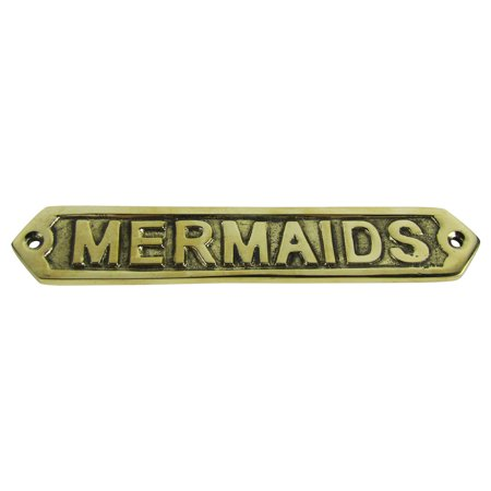 - Solid Brass Ship Ship's boat plaque MERMAIDS nautical mermaid decor ships sign