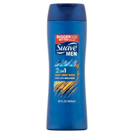 Suave Men 2 In 1 Hair   Body Wash  15 Fl Oz