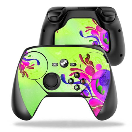 MightySkins Protective Vinyl Skin Decal for Valve Steam Controller case wrap cover sticker skins Pastel Flourish