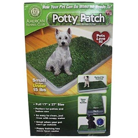 Potty Patch - Economical Dog Litter Box and Grass Patch that Will Train Your Puppy and Keep Home Clean Small - for Pets Under 15 lbs