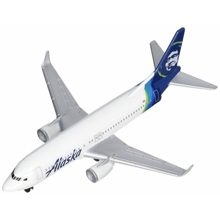 Alaska Airlines, White w/ Blue - Real Toy RT3994-1 - Pre-built Model Airplane Replica ()