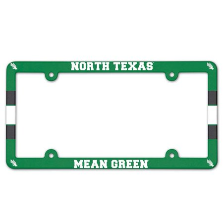 North Texas Mean Green Eagles Plastic License Plate Frame