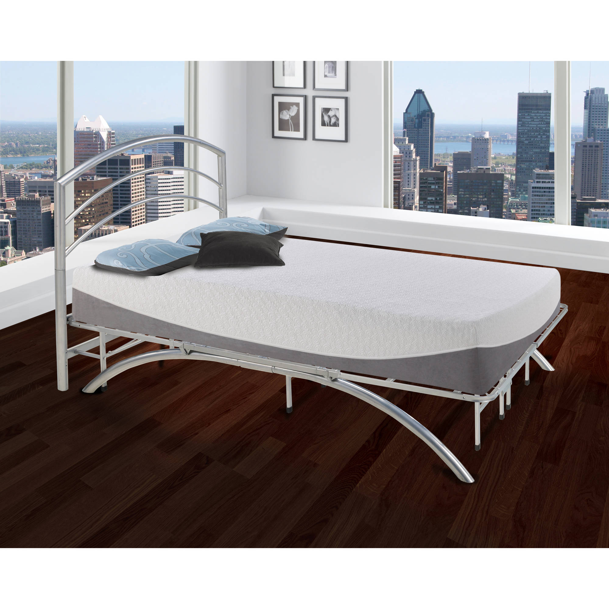 premier ellipse metal headboard walmartcom - Metal Bed Frame With Headboard