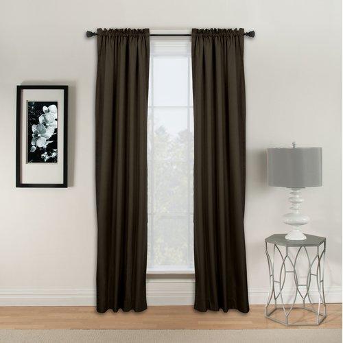 Natco Home Winston Solid Room Darkening Rod Pocket Single Curtain Panel Walmart Com Walmart Com