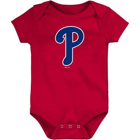 Philadelphia Phillies Newborn & Infant Primary Logo Bodysuit - Red (Philadelphia Phillies Newborn Onesie)