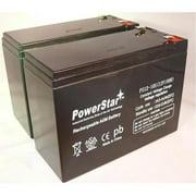 PowerStar PS12-10-2Pack19 2 Pack 12V 10Ah Sla Battery For Razor Mx350 V1-8, Rebellion Chopper V7-8 & Bella