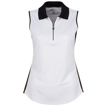 - Greg Norman ML75 Sleeveless Zip Color Blocked Golf Polo 2017 Womens