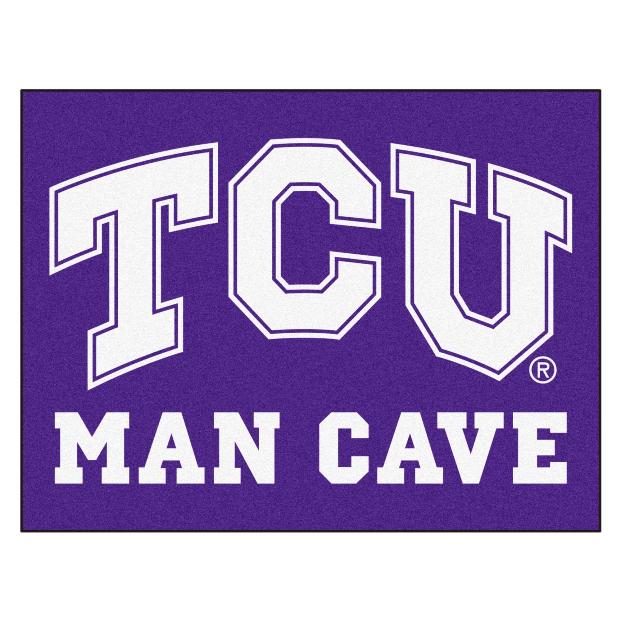 """TCU Man Cave All-Star Mat 33.75""""x42.5"""""""