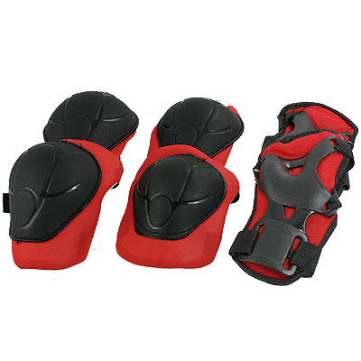 Skateboard Protective Shell Palm Wrist Guard Elbow Knee Pads for Children