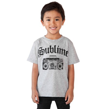 Baby Toddler Boys Sublime T-Shirt - Boom Box Gray - Grey Suits For Boys
