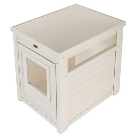 Ecoflex Litter Box Cover End Table Antique White