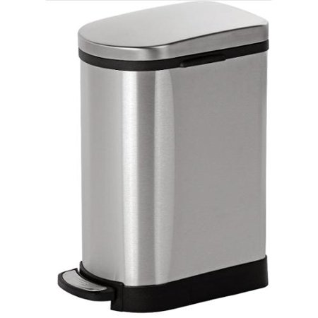 Joyware 10 Liter Slim Shaped Stainless Steel Trash Can